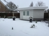 De salon in de sneeuw